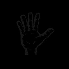 fingers giving an oath